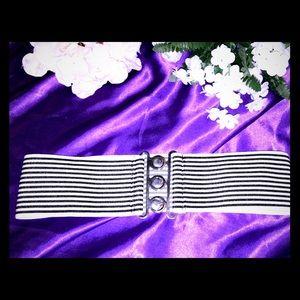 Accessories - Striped Belt.